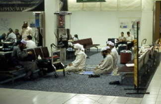 Muslims at Heathrow Airport