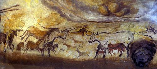 Hall of the Bulls. Lascaux Cave Painting