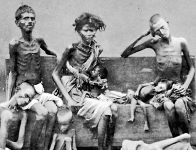 Victims of famine